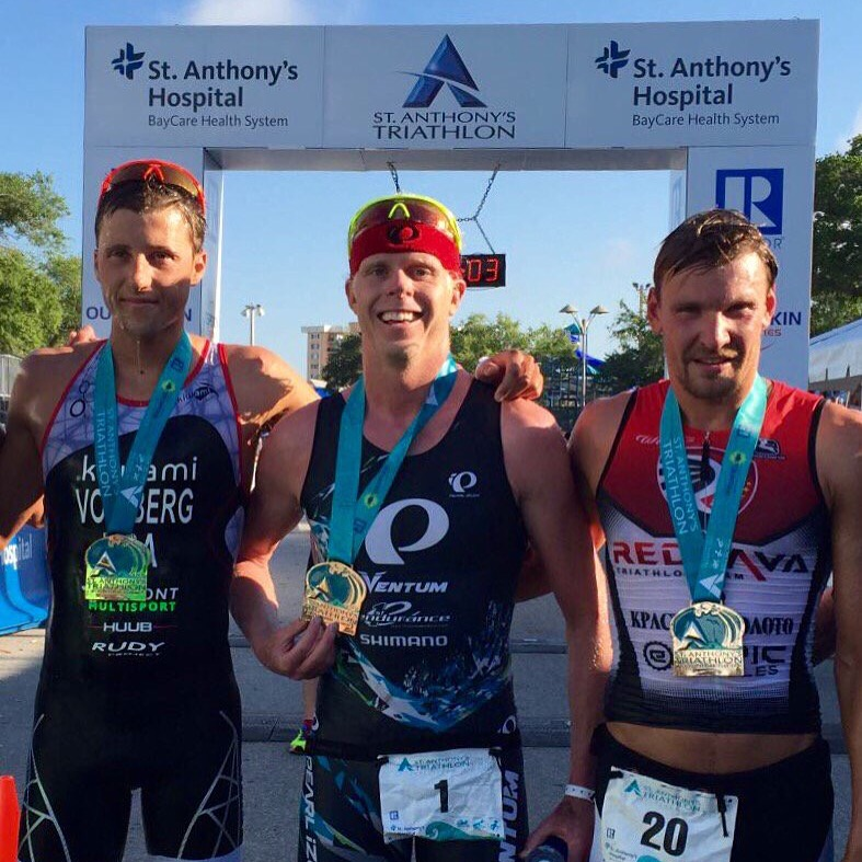 Victory for First Endurance Triathlete Cam Dye at St.Anthony's Triathlon